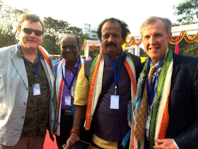 Western astrologers Julian Venables and Vedic Astrologers schmoozing