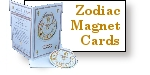 Zodiac Sign Fridge Magnet and Card