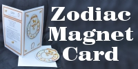 Signs of the Zodiac Fridge Magnet Card (part of a set of 12)