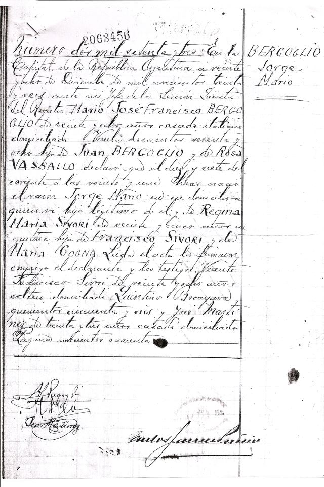 Francis 1 Birth Certificate