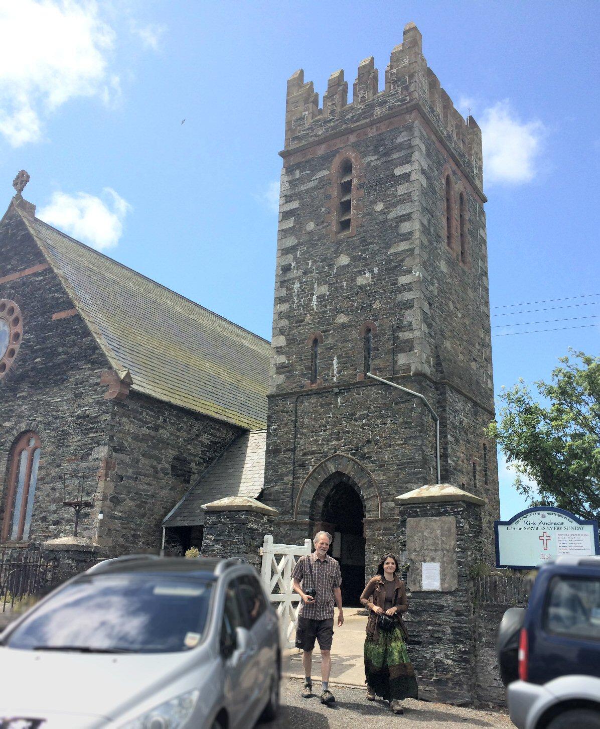 Exterior of Kirk Andreas, Isle of Man